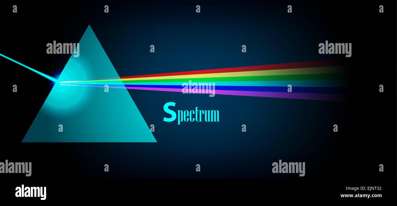 Physics Prism eps10 - Stock Image