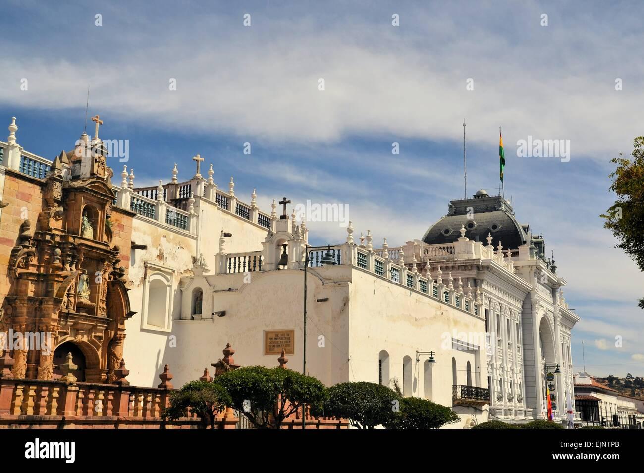 Government Building Of Capital City Sucre Bolivia Stock Photo Alamy