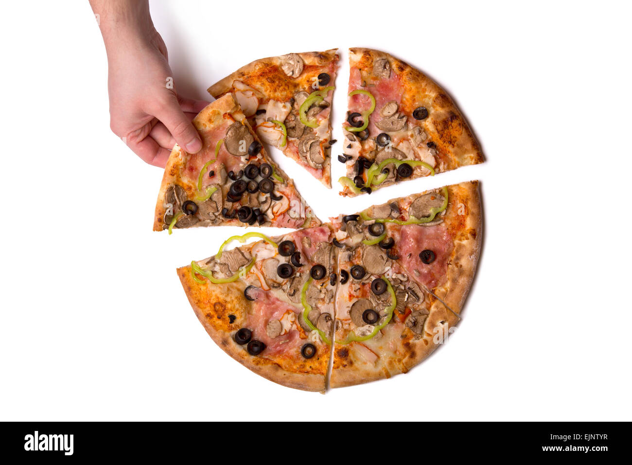 Pizza Slice Cut Out Stock Images & Pictures - Alamy