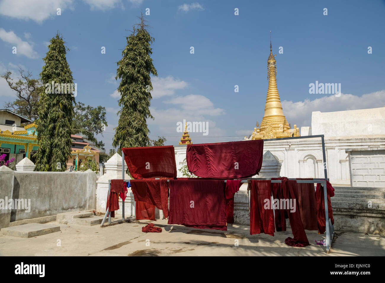 Nyuang Shwe Monastery - Stock Image