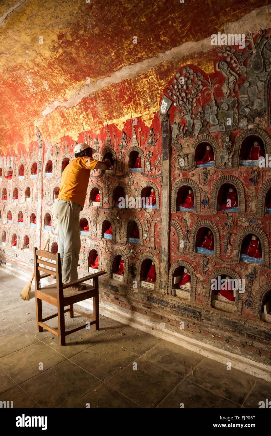 Repair Works at Nyuang Shwe Monastery - Stock Image