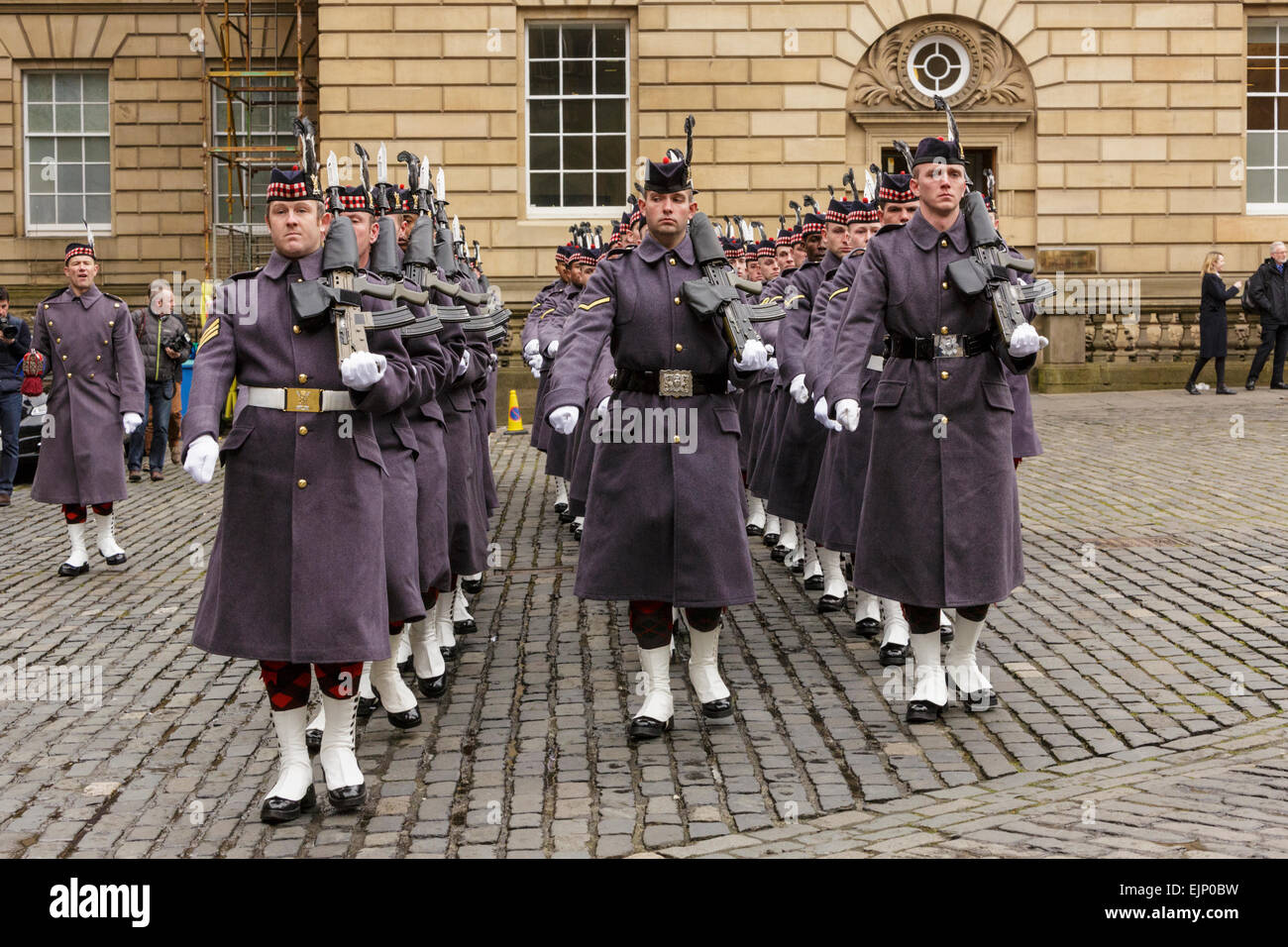 Edinburgh, Scotland, UK. 30th Mar, 2015. The Right Honourable Lord Lyon King of Arms has summoned a new UK Parliament - Stock Image