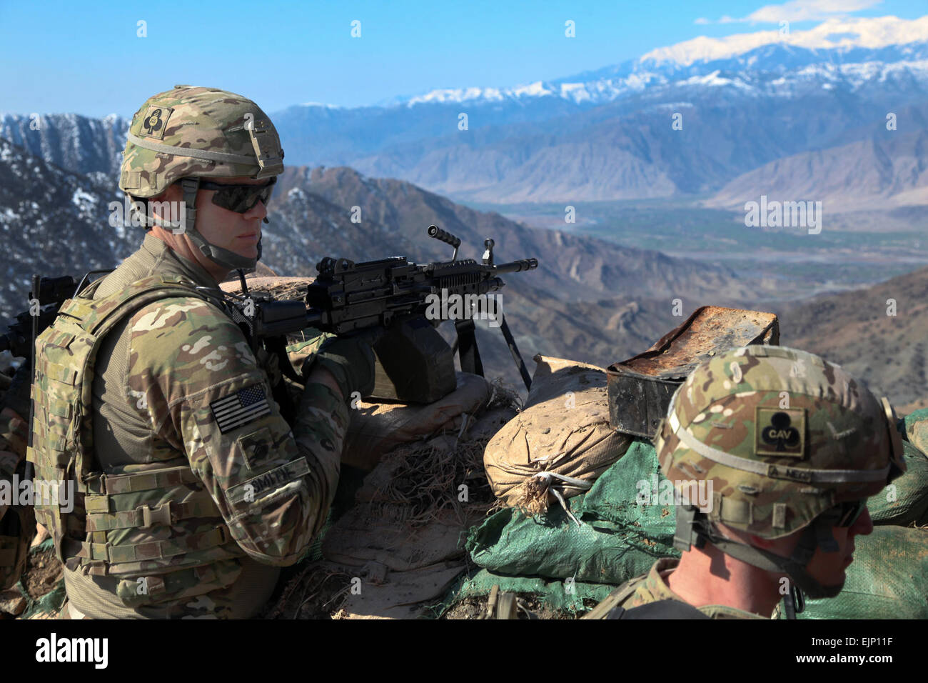 U.S. Army Sgt. Curtis Smith, 2nd Battalion, 327th Infantry Regiment, 1st Brigade Combat Team, 101st Airborne Division - Stock Image