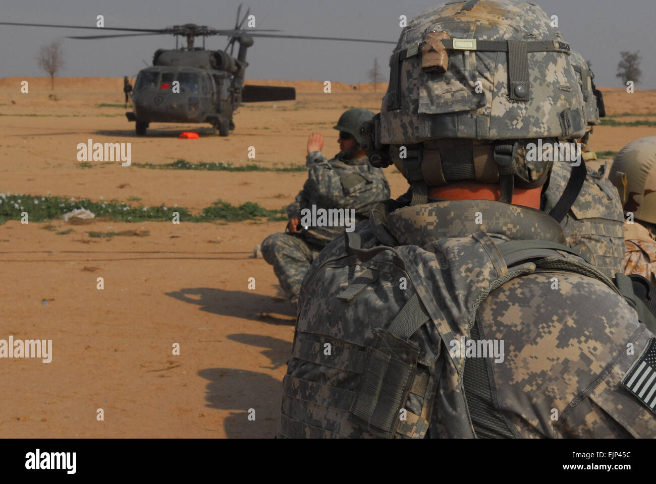 """""""Punisher"""" Soldiers of 3rd Platoon, Delta Company, 1st Battalion, 37th Armor Regiment, 1st Heavy - Stock Image"""