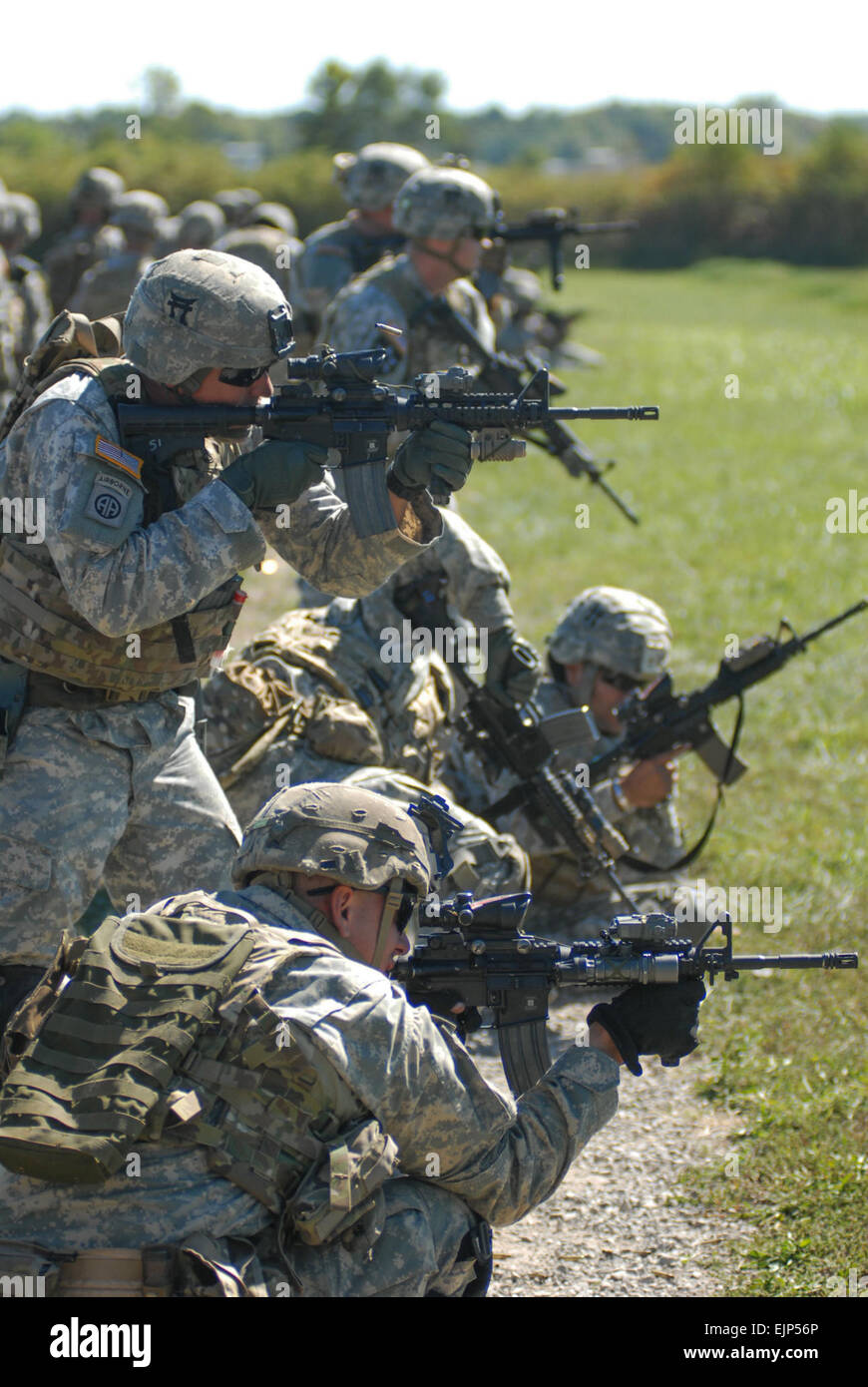 Noncommissioned officers from 1st Battalion, 187th Infantry Regiment, 3rd Brigade Combat Team, 101st Airborne Division - Stock Image