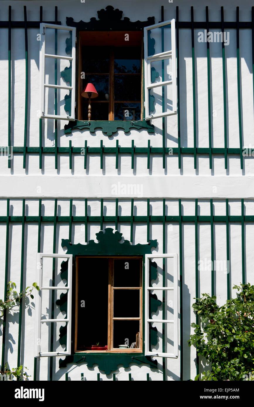 Fenster in Altaussee, Salzkammergut, Styria, Austria - Stock Image
