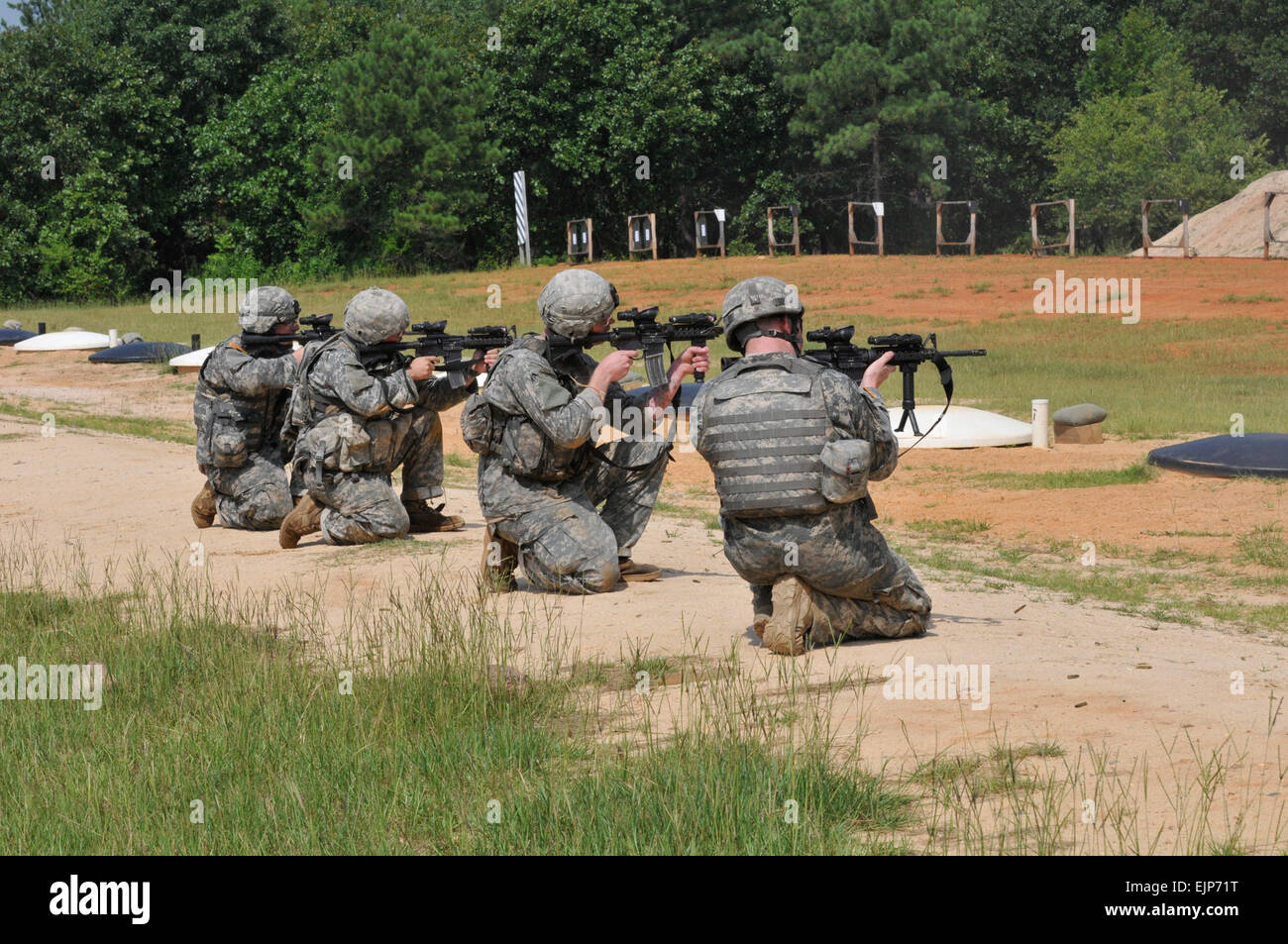 Paratroopers from A Troop, 1st Squadron, 73rd Cavalry Regiment, 2nd Brigade Combat Team, 82nd Airborne Division, - Stock Image