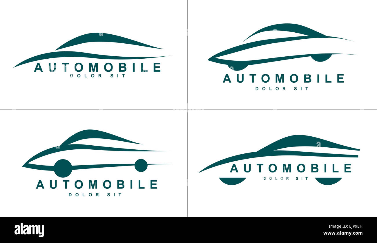 vector logo template of stylized shapes of car or automobile stock