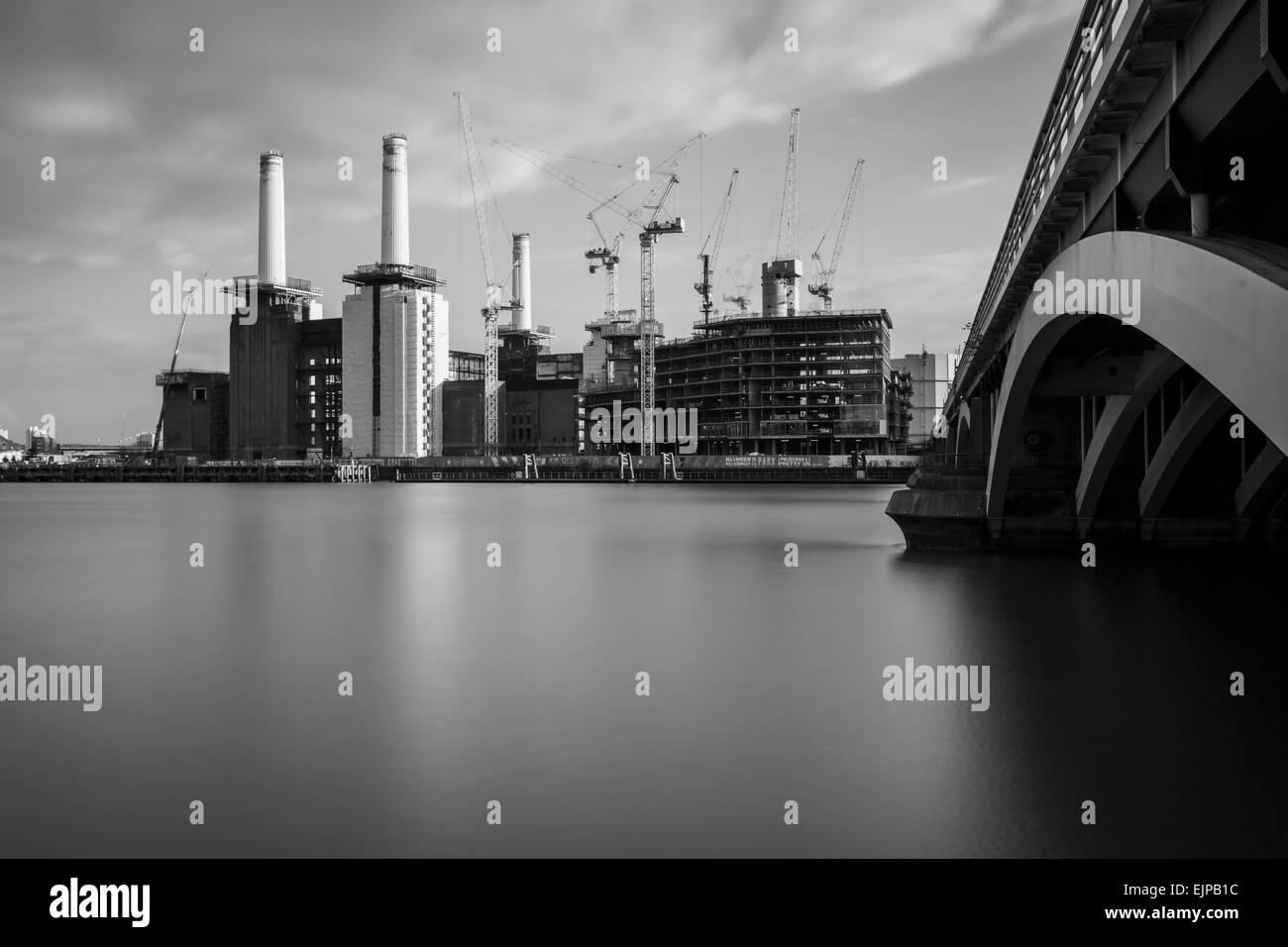 Battersea Power Station, a London landmark, England. - Stock Image