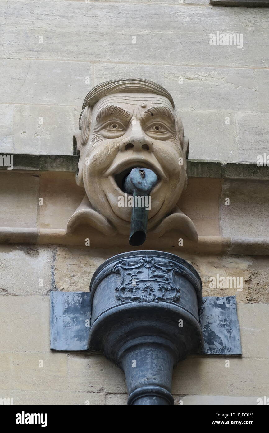 Strange drainpipe on the side of Eton college chapel. No idea what this is all about ! :-) - Stock Image