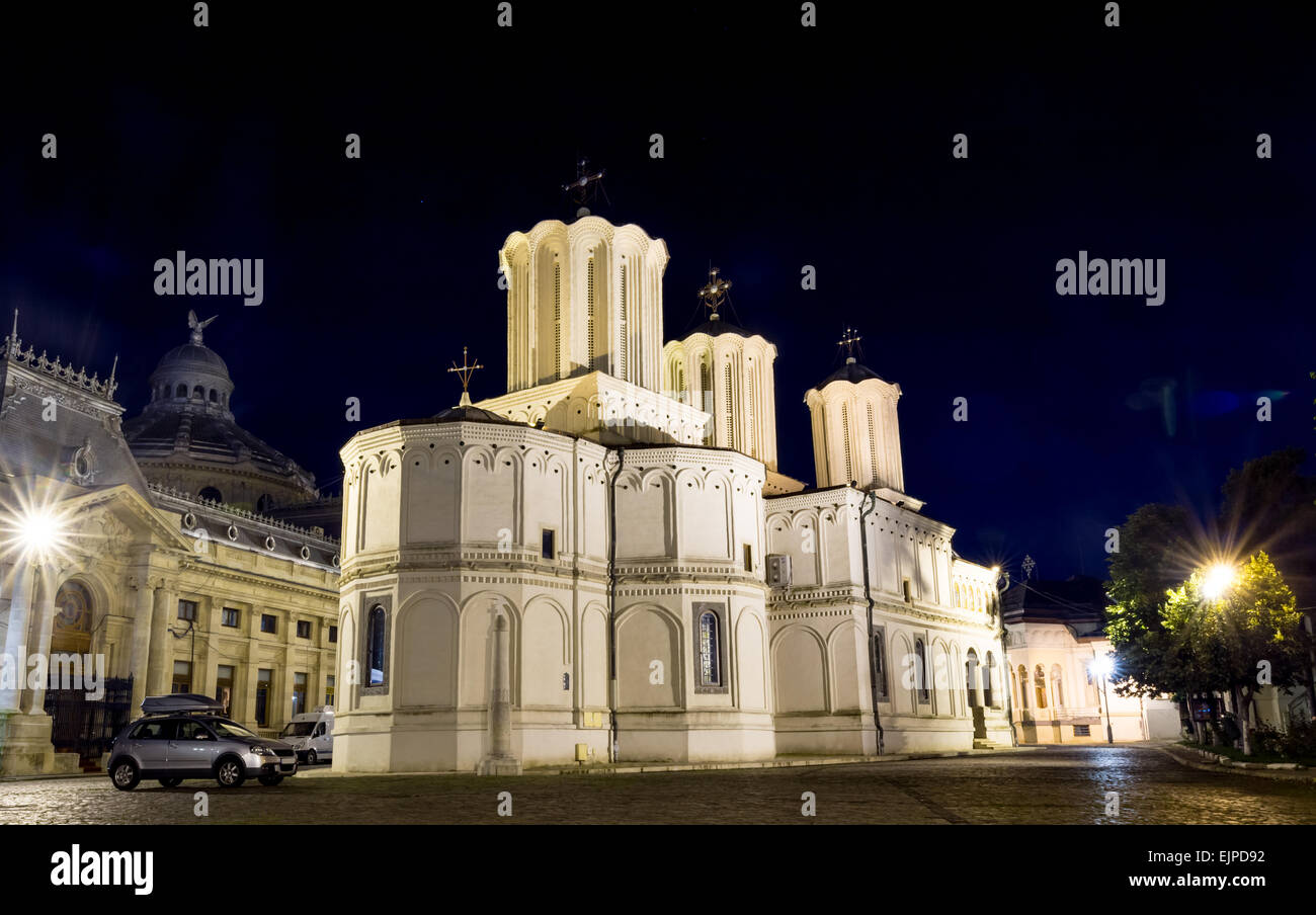 Orthodox Cathedral in Bucharest, Romania. - Stock Image