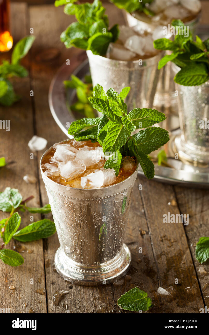 Refreshing Cold Mint Julep for the Derby - Stock Image