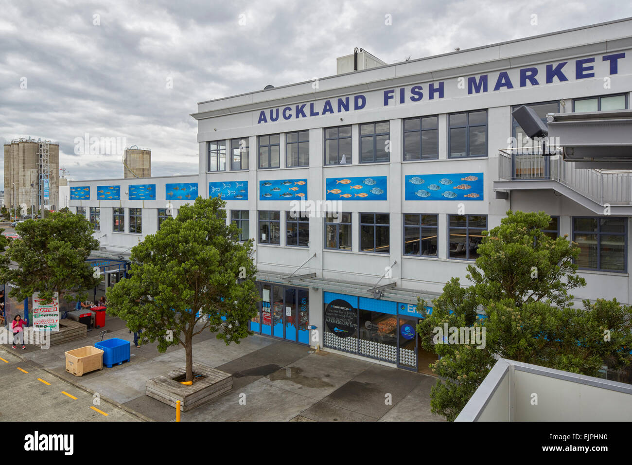 Auckland Fish Market, Auckland, North Island, New Zealand - Stock Image