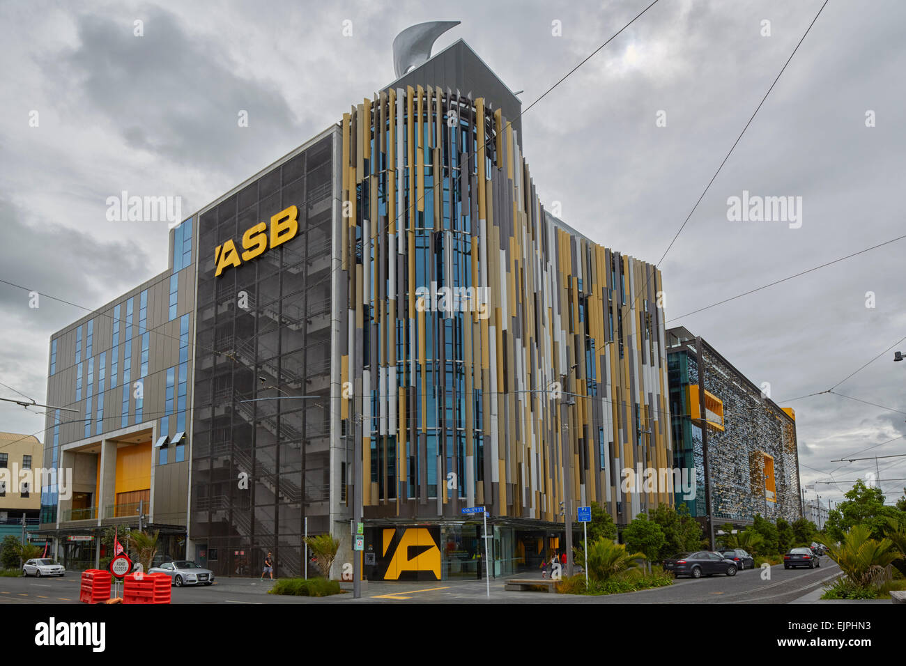 ASB Building, North Wharf, Auckland, North Island, New Zealand Stock Photo