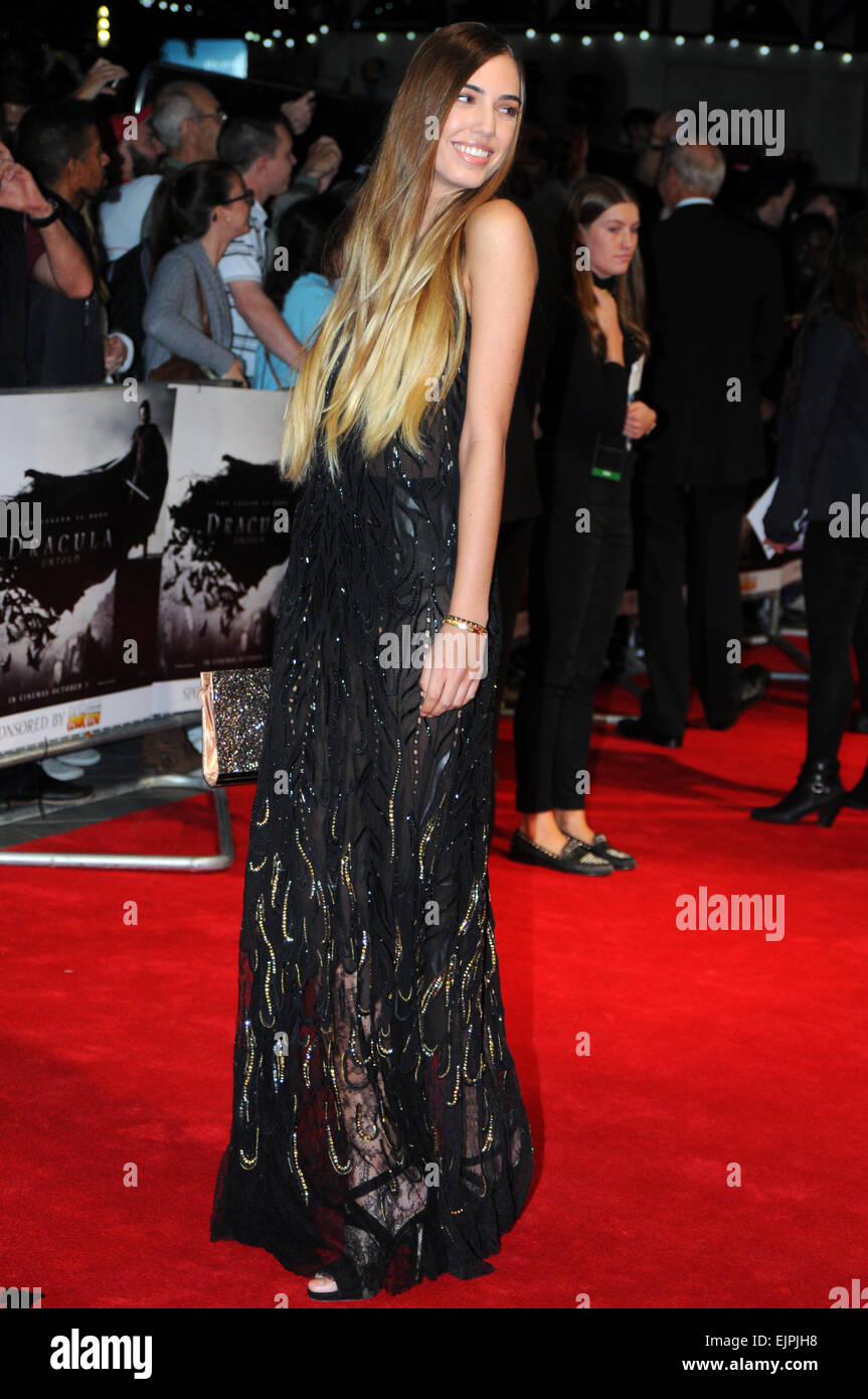 Amber Le Bon Attends Premiere Film Dracula Untold At Odeon Leicester