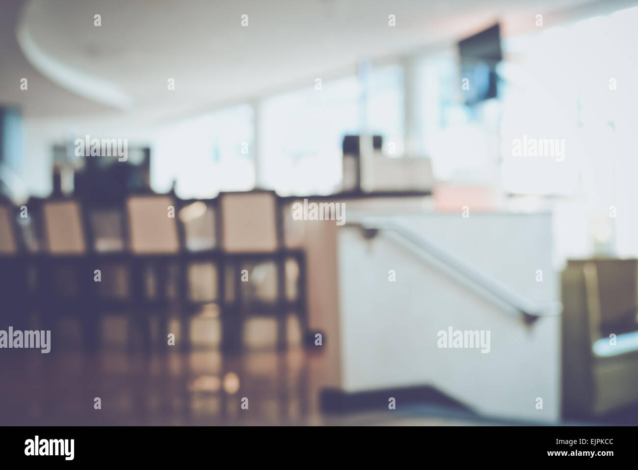 Blurred Modern Hotel Bar with Retro Instagram Style Filter - Stock Image