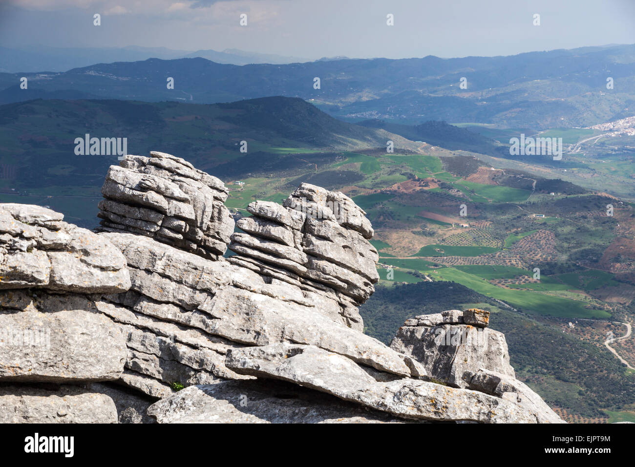 Torcal de Antequera, Andalusia, Spain - Stock Image
