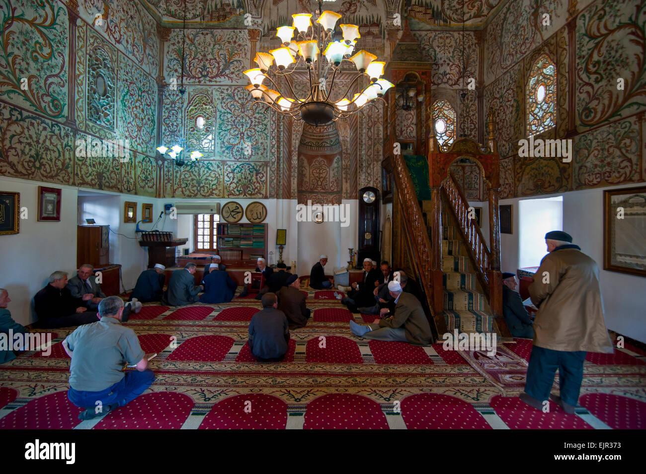 Et'hem Bey Mosque, Tirana, Albania - Stock Image