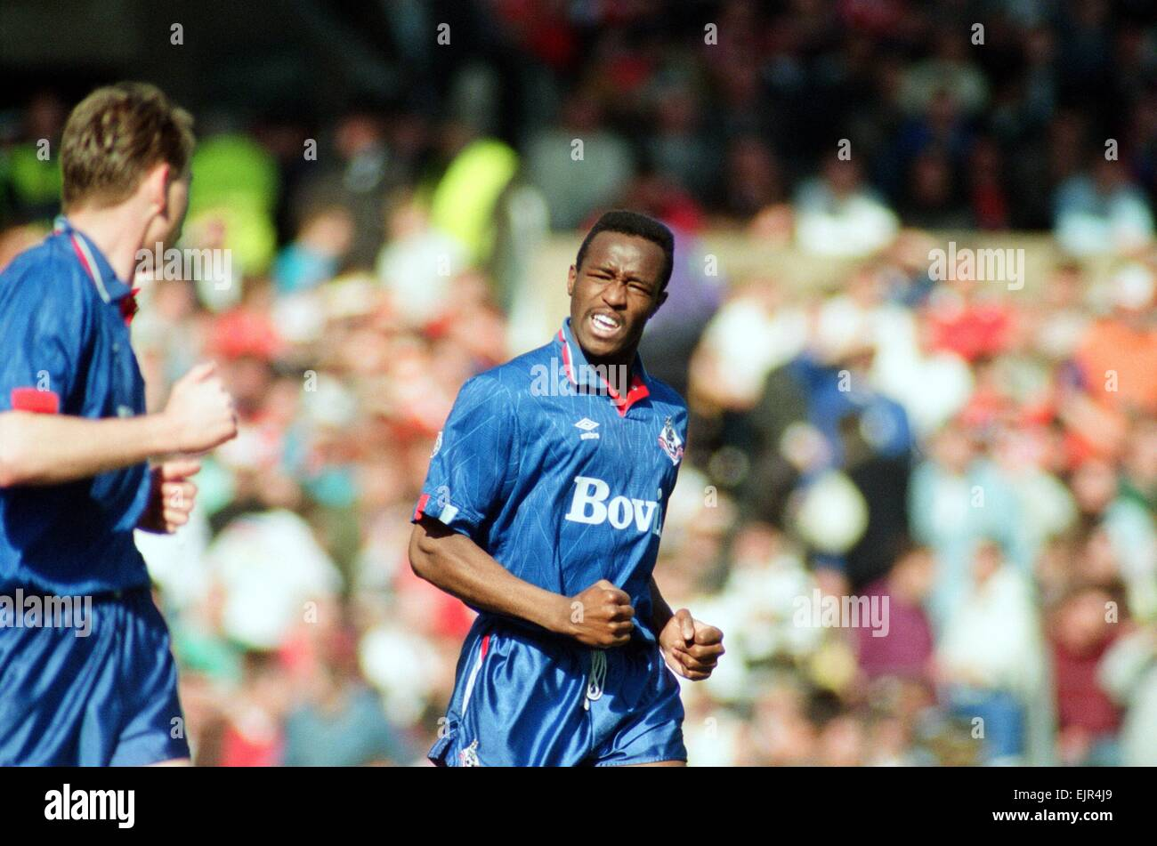 Earl Barrett. FA Cup. Manchester United 3 v Oldham Athletic 3. 8th April 1990 - Stock Image