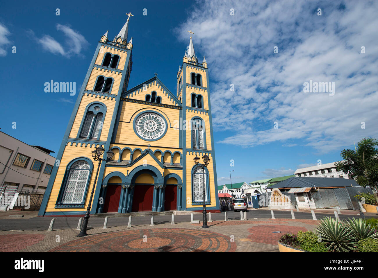 The Roman Catholic Diocese of Paramaribo, a fine example of wooden architecture, erected 1817, Paramaribo, Suriname - Stock Image