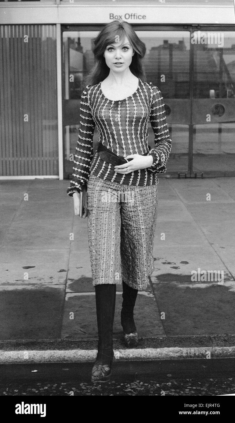 Model and horror film actress Madeline Smith. 17th February 1971. *** Local Caption *** Maddy Smith Stock Photo