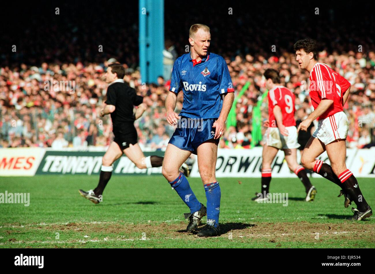 Andy Ritchie. FA Cup. Manchester United 3 v Oldham Athletic 3. 8th April 1990 - Stock Image