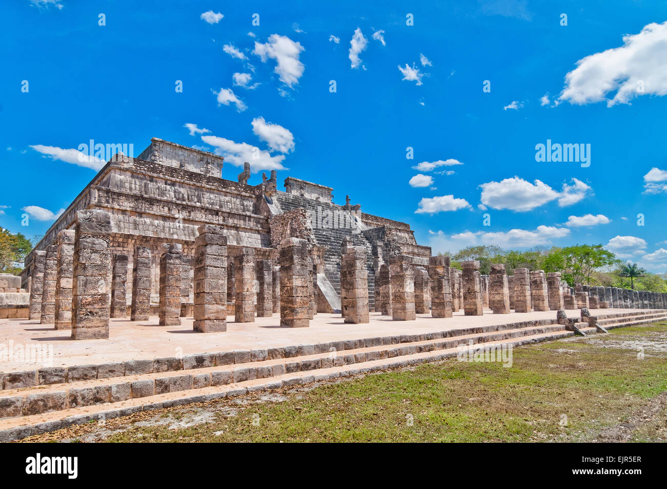 Chichen Itza is one of the most visited archaeological sites in Yucatan, Mexico - Stock Image