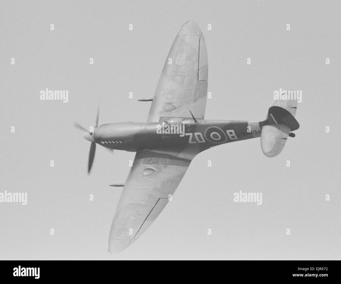 Spitfire Mk IXB MH434 was built in 1943 at Vickers, Castle Bromwich. This Spitfire is completely original, and has - Stock Image