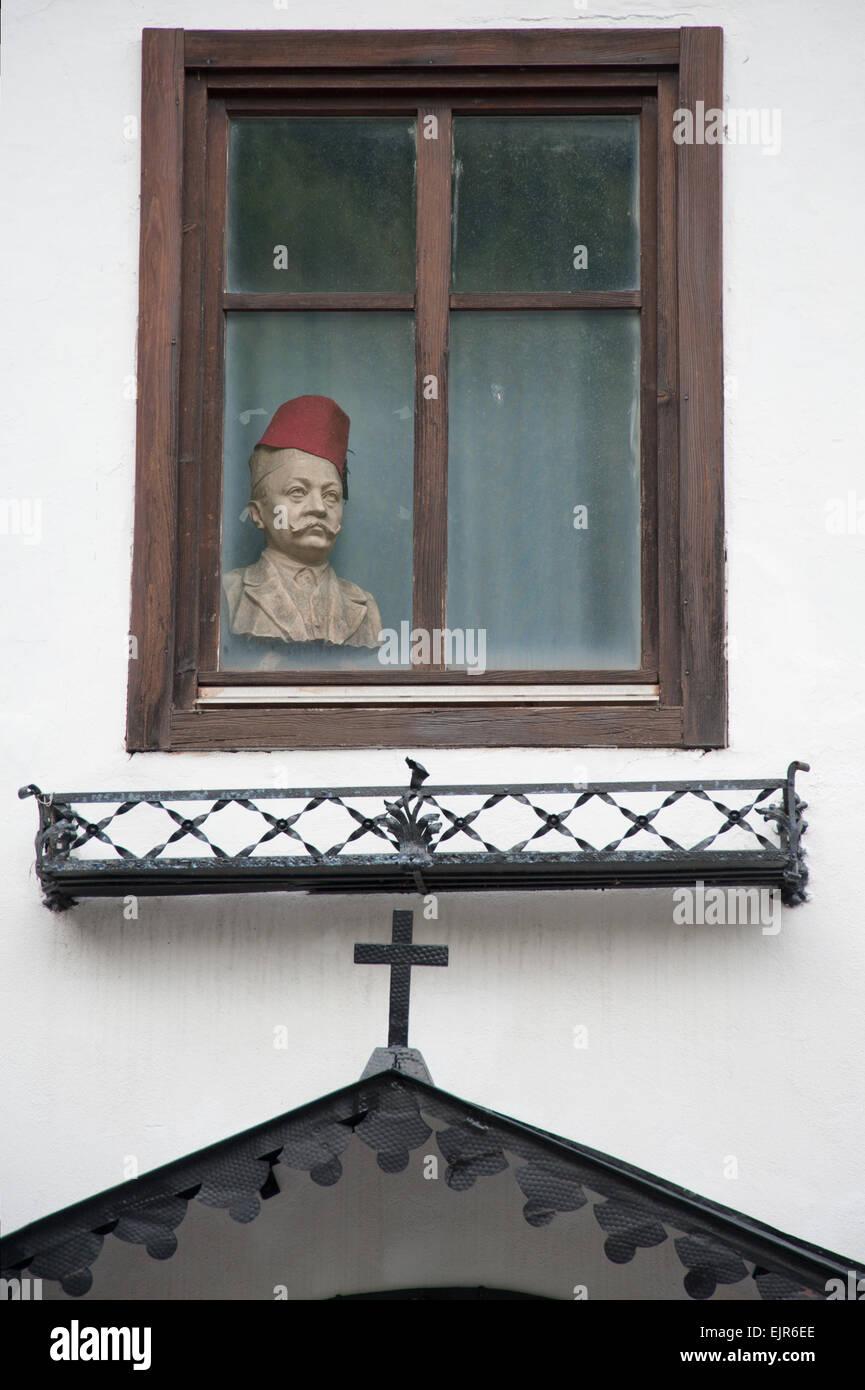 Fenster in Hallstatt, Salzkammergut, Austria - Stock Image