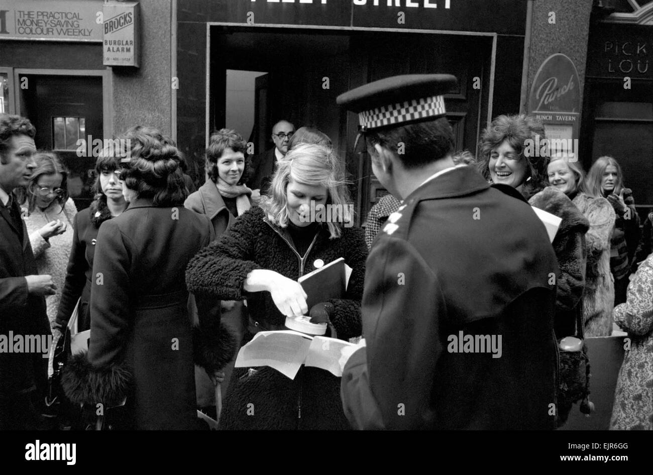 c97a6d79dd Outside the offices of Punch members of the women's liberation protested  against their so-called