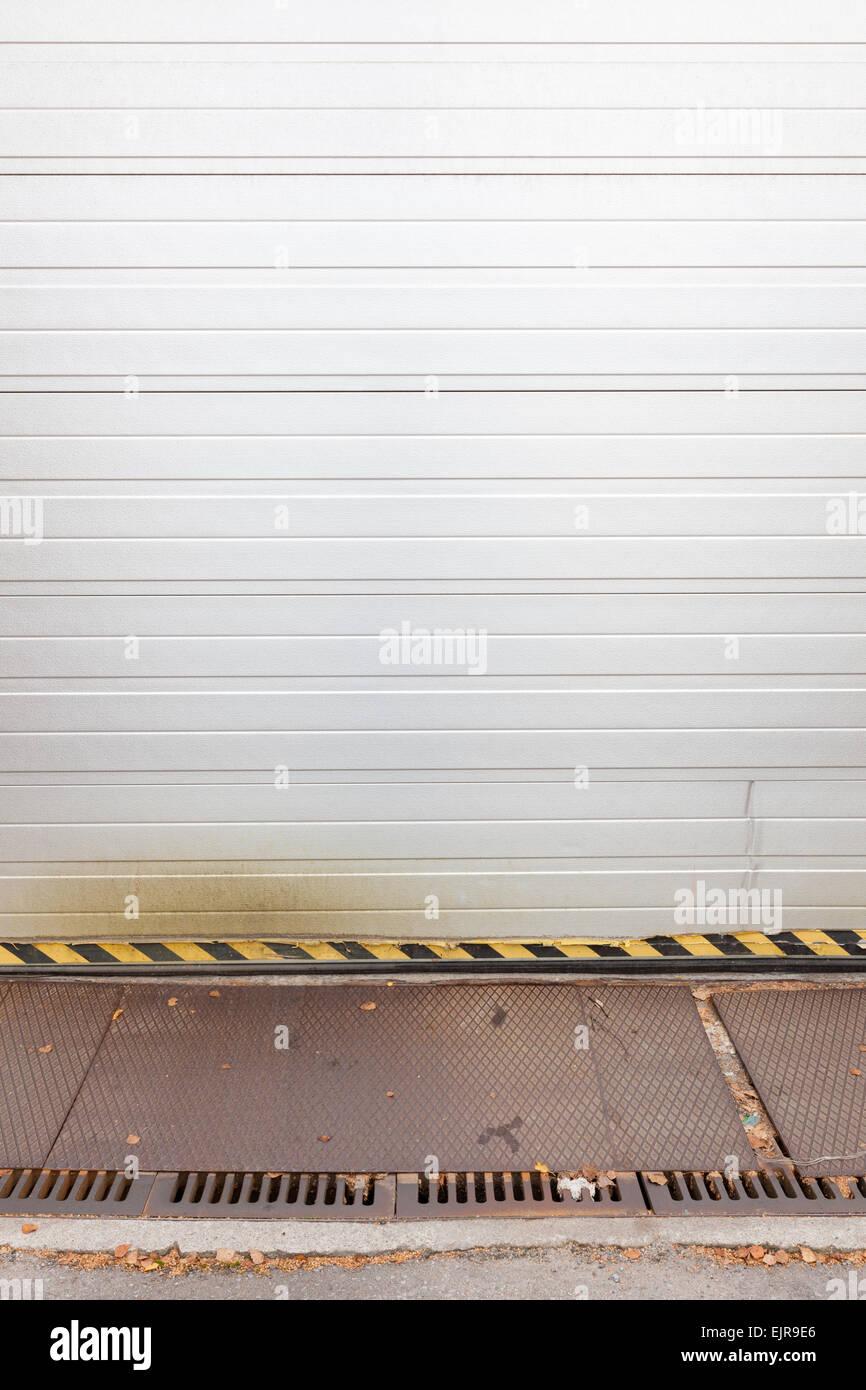 white garage door texture. White Garage Door - Stock Image Texture