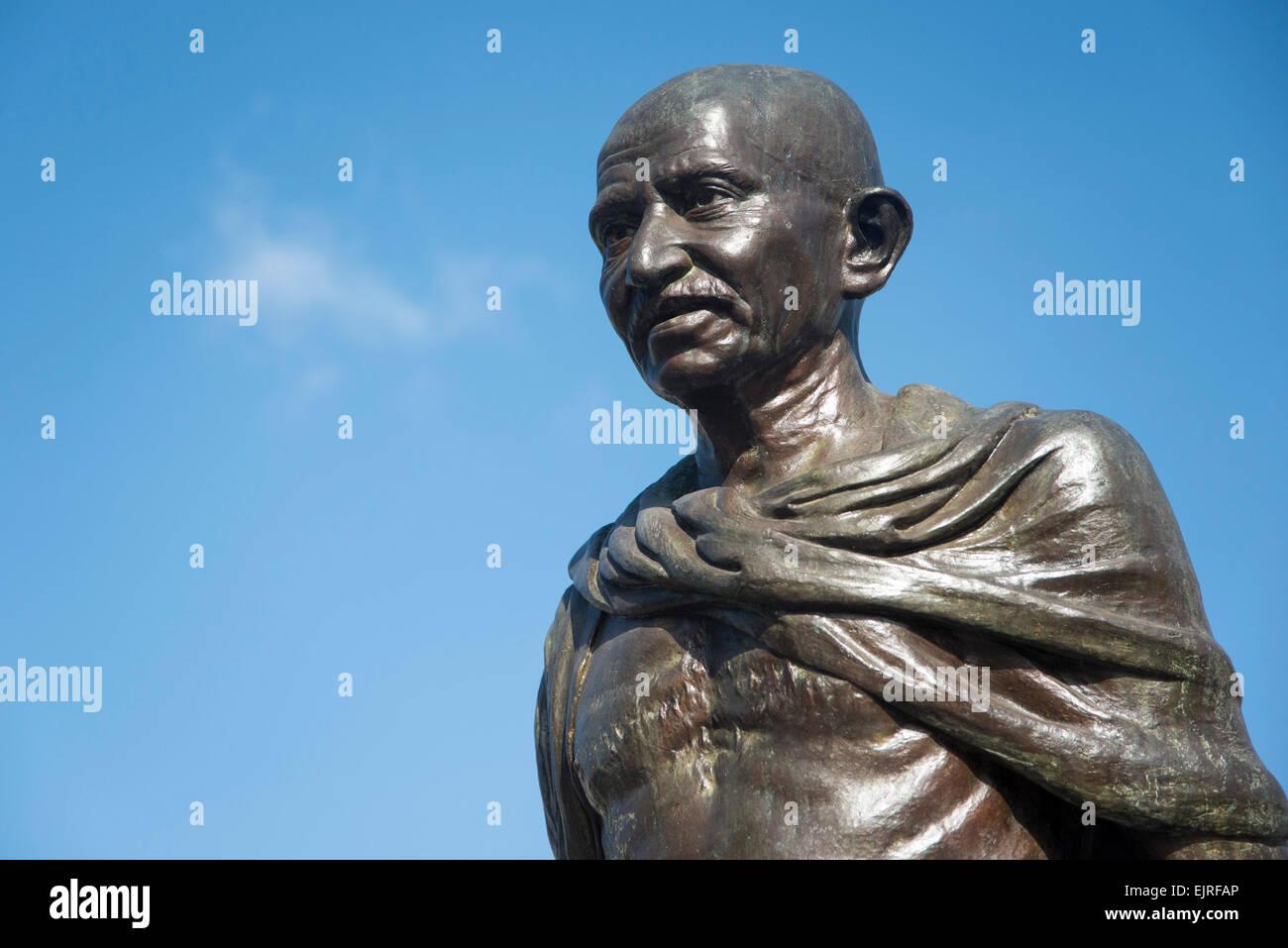 Mahatma Gandhi statue, Paramaribo, Suriname - Stock Image