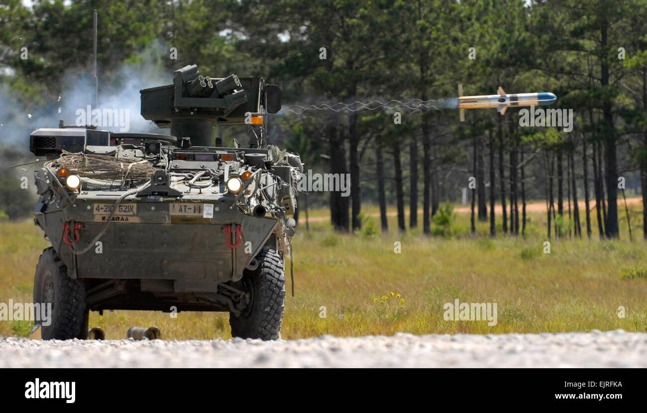 fires a tow missile during the brigade's rotation through fort polk's,  joint readiness training center  fort lewis soldiers harness new