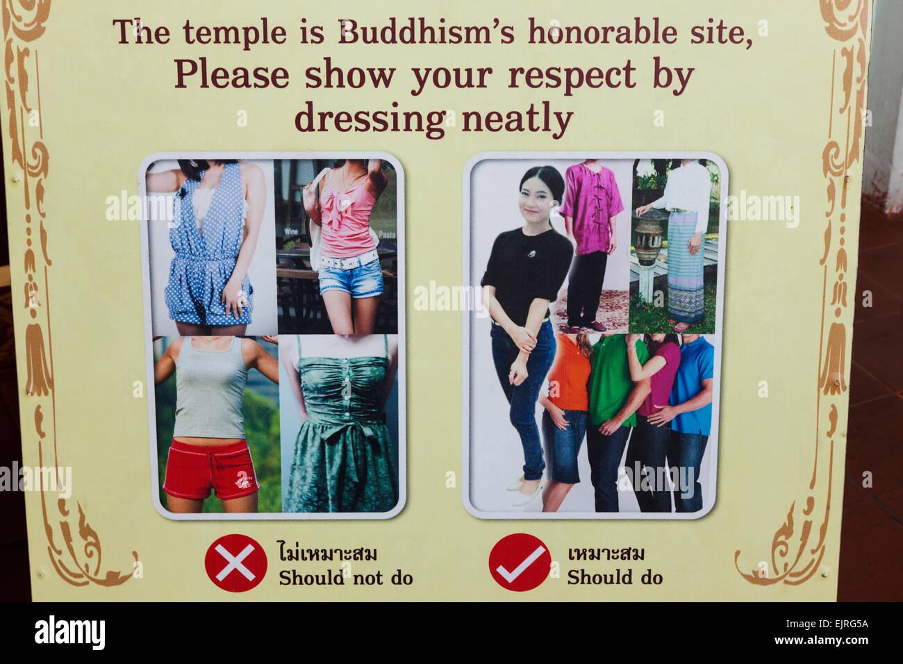 Sign Temple Dress Code Stock Photos Sign Temple Dress Code Stock