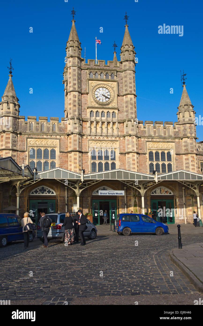 Entrance Bristol Temple Meads railway station, UK Stock Photo