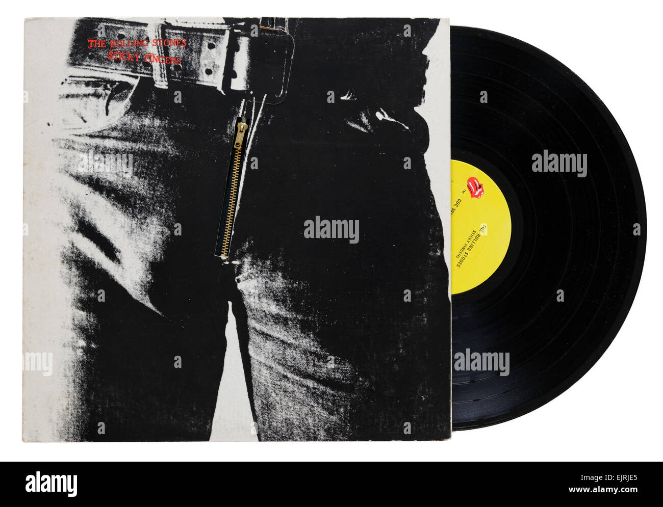 The Rolling Stones Sticky Fingers album - Stock Image