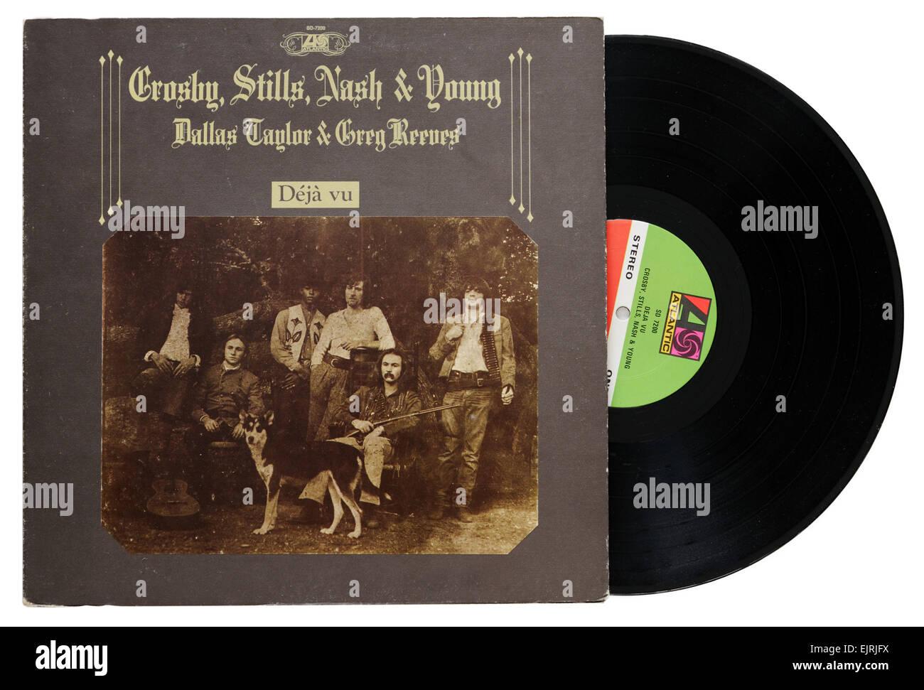 Crosby Stills Nash and Young album Deja Vu - Stock Image