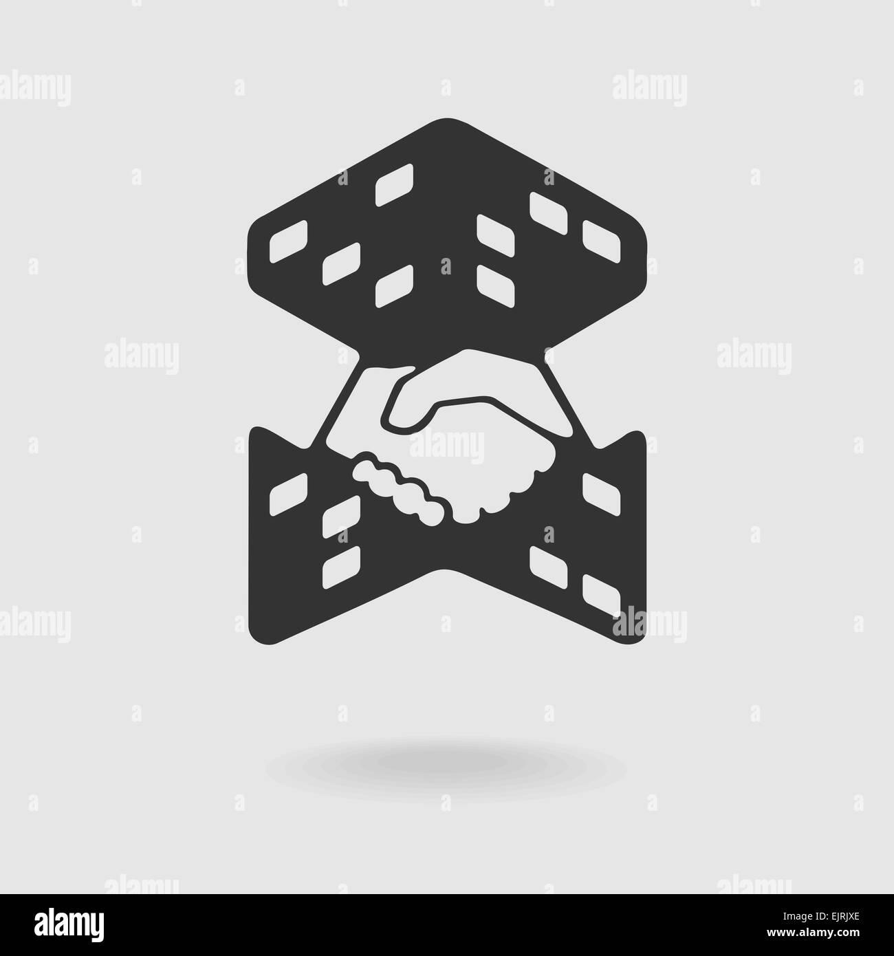 Symbol Transaction Real Estate - Stock Image