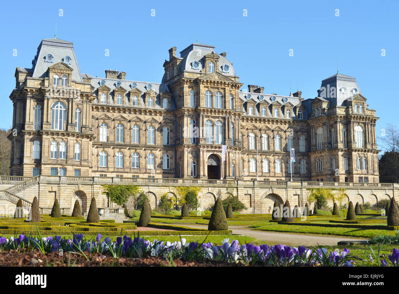 Bowes Museum at Barnard Castle in County Durham, UK - Stock Image