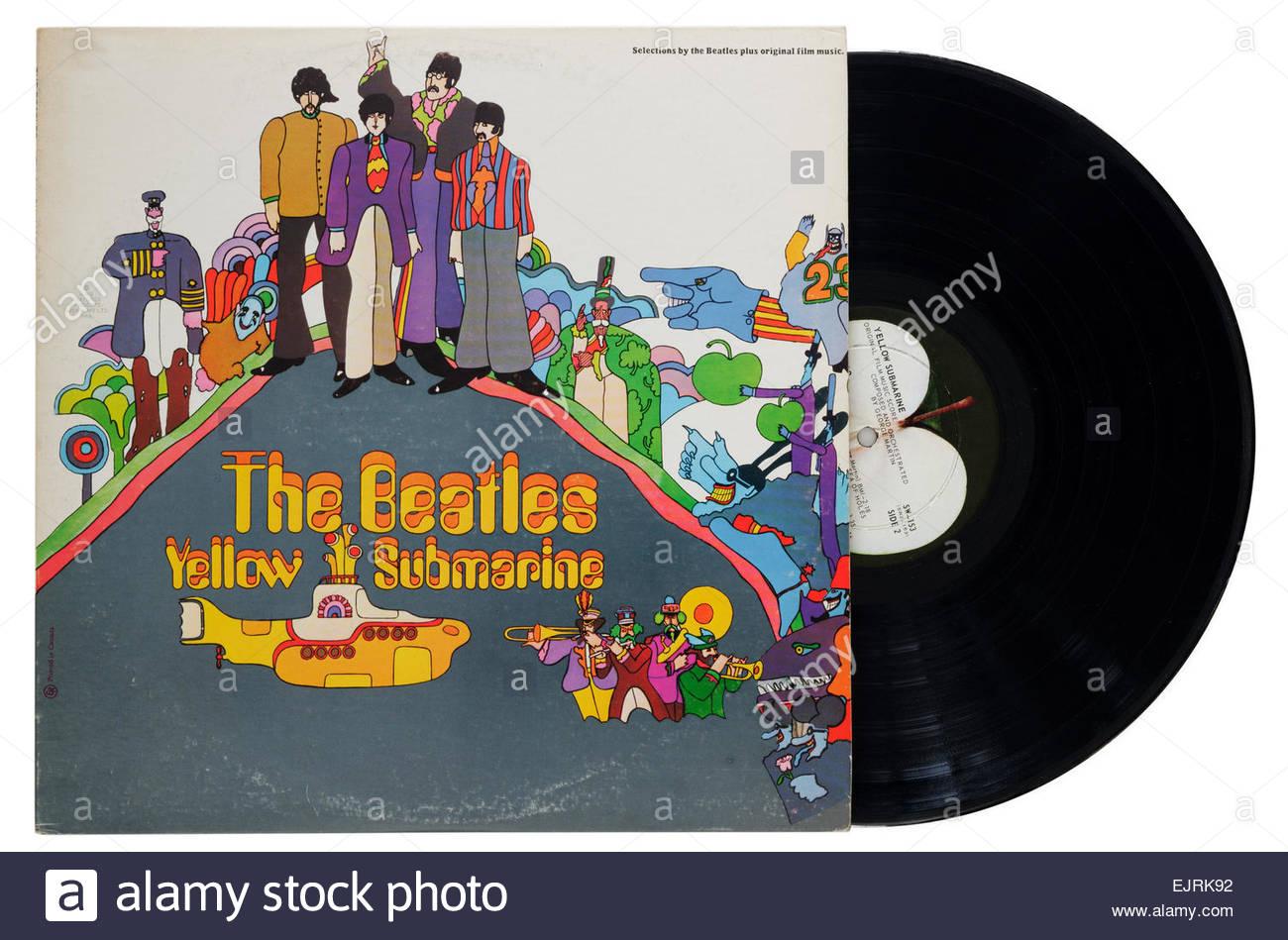 Beatles Yellow Submarine album - Stock Image