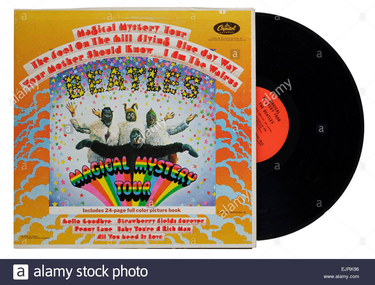 Beatles Magical Mystery Tour album - Stock Image