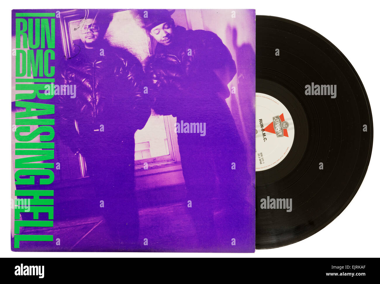 Run DMC Raising Hell album - Stock Image