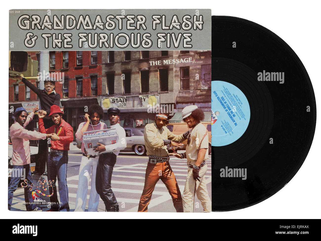 Grandmaster Flash and the Furious Five album The Message - Stock Image