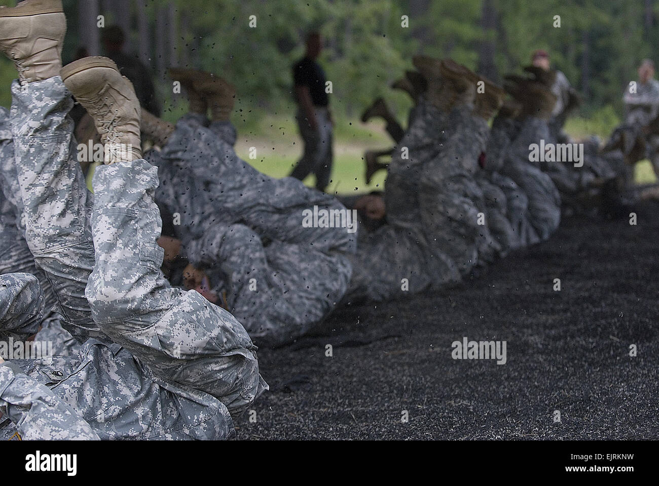 U.S. Army Reserve Soldiers from the United States Army Civil Affairs and Psychological Operations Command Airborne - Stock Image