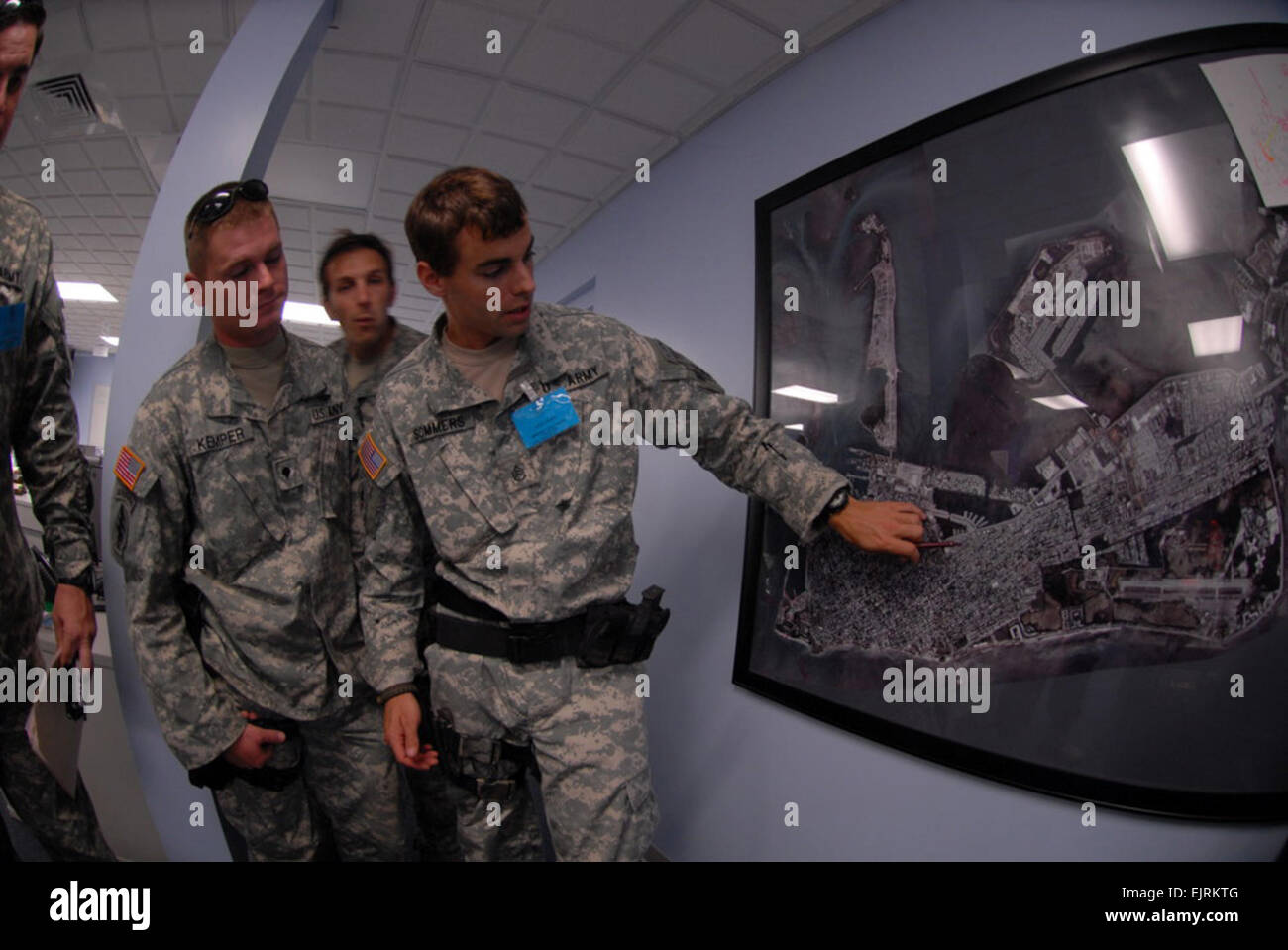 Florida National Guard Special Forces review city maps for