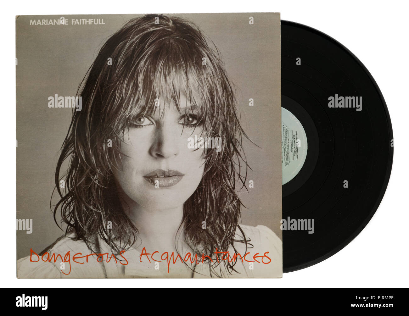 Marianne Faithfull album Dangerous Acquaintances - Stock Image