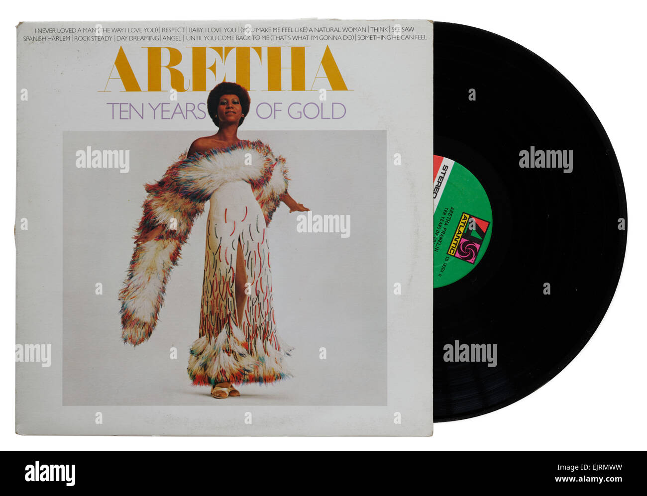 Aretha Franklin Ten Years of Gold album - Stock Image