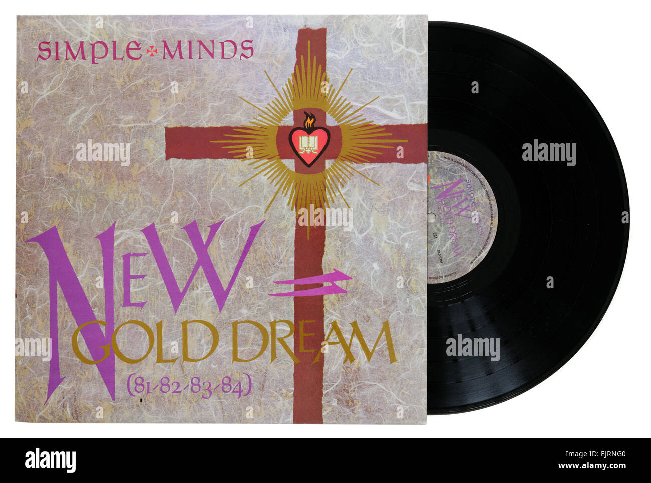 Simple Minds album New Gold Dream - Stock Image
