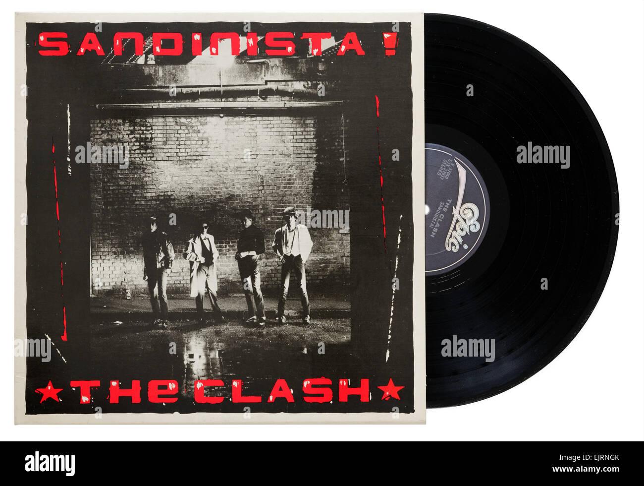 The Clash Sandanista album - Stock Image