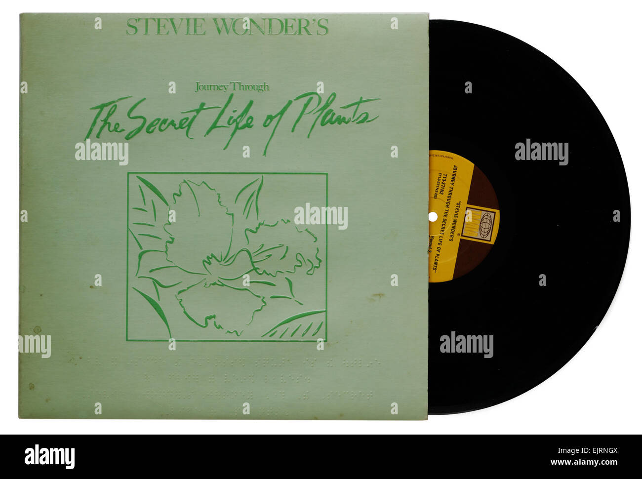 Stevie Wonder Journey Through the Secret Life of Plants album - Stock Image